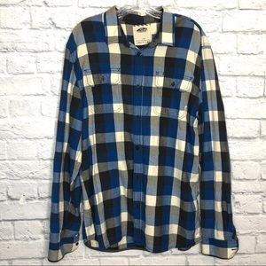 Vans Blue Black Flannel Shirt
